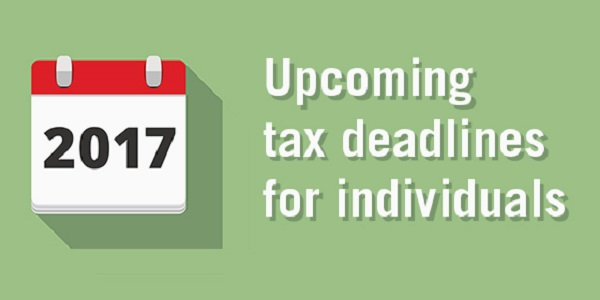 Upcoming Tax Deadlines 2017