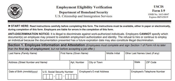 Form I-9: Staying Out Of Trouble