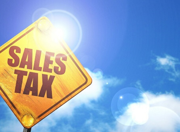 Sales Tax On A Yellow Sign