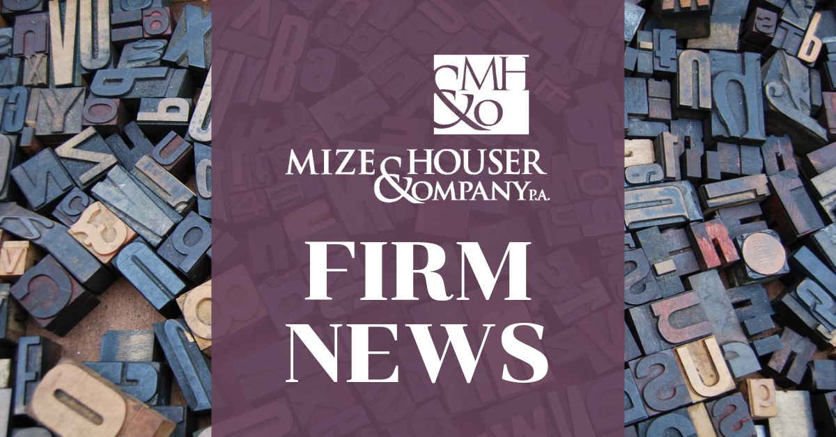 Mize Firm News Announcement