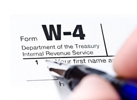 W-4 Form With A Pen