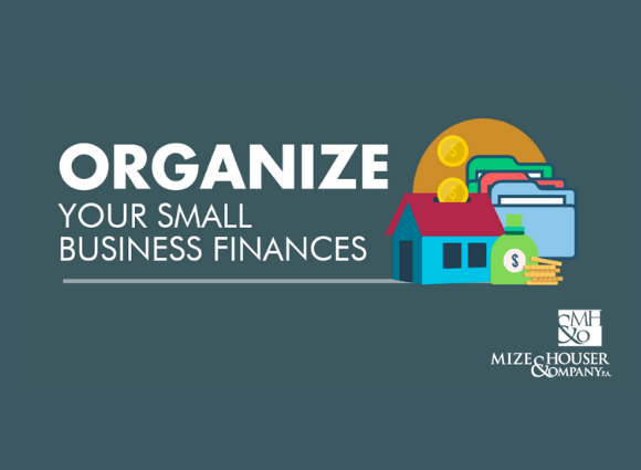 Organize Your Small Business Finances with illustration