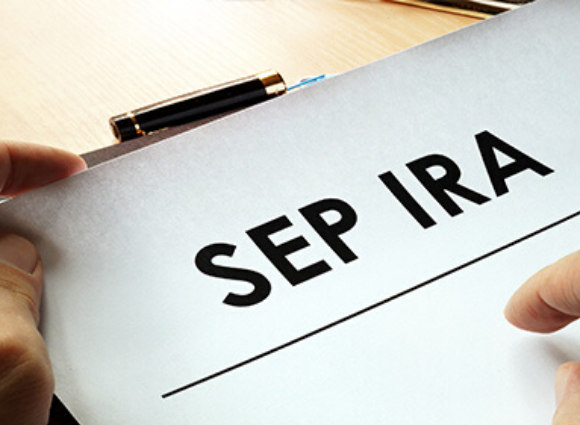 SEP IRA as a header on white paper