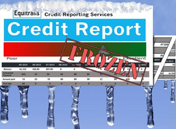 Credit Report With Icicles