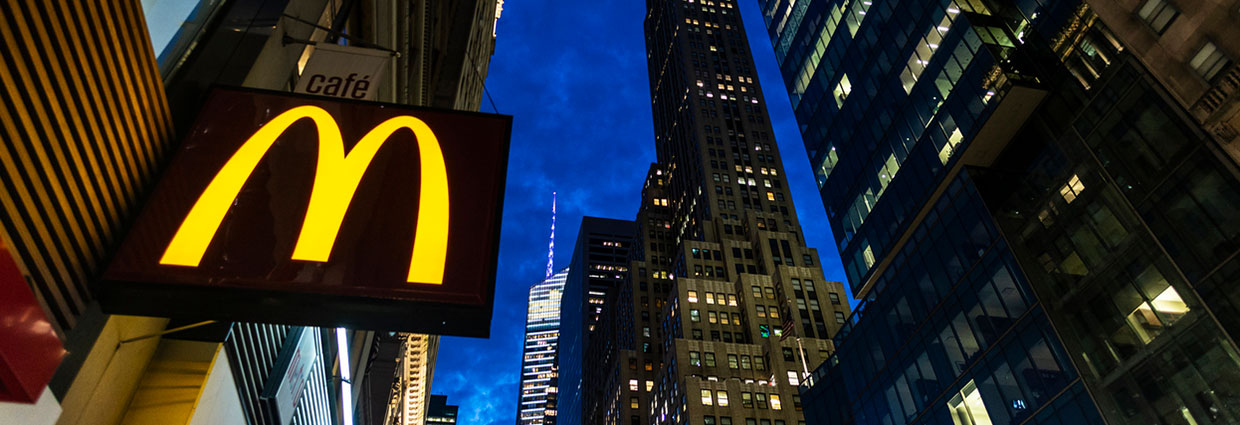 McDonalds at night in Manhattan, New York City